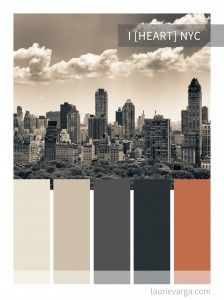 I [Heart} NYC color palette