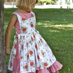 Grace's Pinafore by Olabelhe PDF Sewing Pattern Girls, baby, toddler ,E book, tutorial, PDF, downloadable, sewing pattern, easy, DIY, instant download, Spring, Easter, digital, e pattern, kids, sew, AllegroDigiPatterns,