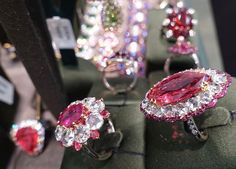 Red Spinel vibes at Baselworld!  #baselworld2016#basel#red#spinel#diamonds#rings#gold#handcrafted#oneofakind#oneofakindjewelry#instagood#beautiful#design