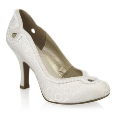 RRP £85 Hush Puppies Annalise Ladies Womens Court Lace Heel Shoes Size UK 4 5