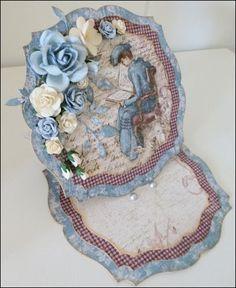 Karis krok: Staffelikort med blomster på Die Cut Cards, Handmade Cards, Punch, Card Ideas, Crochet Necklace, Shabby Chic, Card Making, Elegant, Children