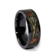 Mens Realtree Titanium MAX 4 Wedding Band