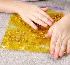 Quiet activities for toddlers - squish bags