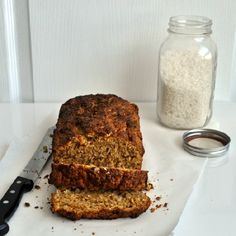 Coconut bread- not too sweet, easy to make, the perfect loaf for a snack or breakfast.