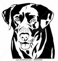 Image result for Labrador Head Silhouette