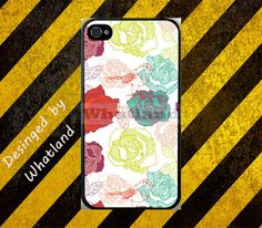colorful floral flower birds Case For Apple iPhone by FashionYes, $10.99