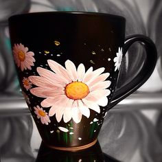 Daisy Mug - Custom Hand Painted Ceramic Mugs (https://www.etsy.com/listing/206334446/daisy-mug-hand-painted-ceramic-mugs)