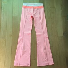 New bleached coral groove pants New without tags, purchased but never worn. They are coral/salmon pink luon material. lululemon athletica Pants Straight Leg