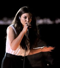 Lorde performs on the 56th Annual GRAMMY Awards on Jan. 26 in Los Angeles