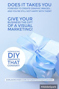 Give your business the gift of learning a new skill. Create a collection of graphic images that get clients to click!