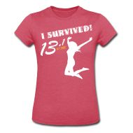 ·♥♡♥· I Survived! 13.1 · Starting at ONLY $17.99 · CELEBRATE YOUR PERSONAL VICTORY OVER THE HALF MARATHON! · This is the women's style, men's is available also. This is miles half marathon version, a miles full marathon version is available, there are also kilometer versions for all as well as multiple shirt styles and colors to choose from. Grab yours today! :)