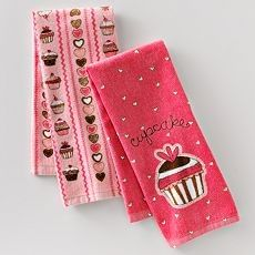 Cupcake kitchen towels