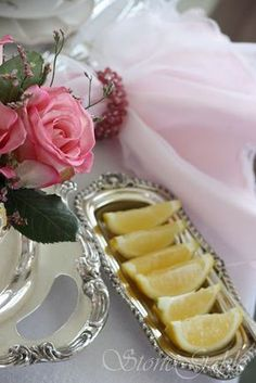 Little details make all the difference such as a lemon wedges served on a silver tray.
