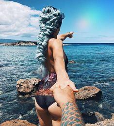 Where is your dream destination? 🌴🌴🌴 Stunning style by @braids_in_action. #HairInspo #BraidGoals #Braid #BraidedHair #Blue #BlueHair #BlueHairDontCare #MermaidHair #PastelBlue #BabyBlue #Travel #TravelGoals #Travelgram