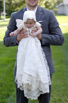 Free lace baby blessing or christening dress sewing pattern & tutorial. Diy.