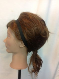 Bouffant undone with low ponytail side