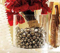 DIY ALERT:      Jingle Bells in vase super easy and festive......