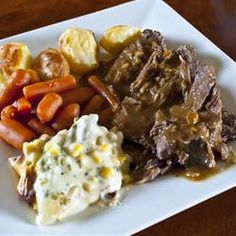 Easiest Slow Cooker Pot Roast. I just made this today (substituted onion soup mix with pot roast seasoning and used beef bullion). Turned out awesome and it was my first pot roast ever!