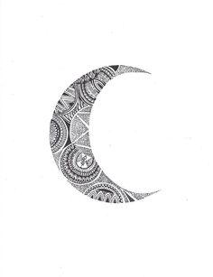 Crescent Mandala Moon 2 Framed Art Print by Kami Sparks | Society6