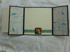 Love Is A Four Legged Word Gate Fold Card door tisketatasketgifts
