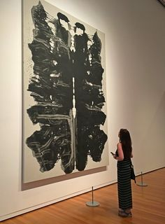 Me and Andy. Canadian visual artist Brandy Saturley with Andy Warhol Rorschack painting at Seattle Art Museum.