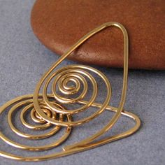 Jewelry Earrings - 14k GF Spiral Seashells ♥ Rocki