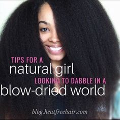 NEW on the blog: Styling tips for the ladies with natural hair who want to try a blowout look! Check it out on blog.heatfreehair.com. #naturalhair #heatfreehair #hairstyle