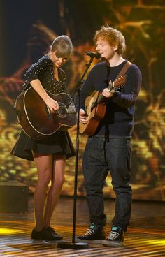 Ed Sheeran and Taylor Swift perform Everything Has Changed on Britain's Got Talent.