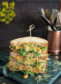 A delicious vegan version of the famous Pimento Spread Sandwiches from Chef Del Sroufe& new book The China Study Family Cookbook + giveaway Vegan Sandwich Recipes, Sandwich Fillings, Veggie Sandwich, Sandwich Bar, Veggie Burgers, Delicious Sandwiches, Wrap Sandwiches, Healthy Sandwiches, Breakfast Sandwiches