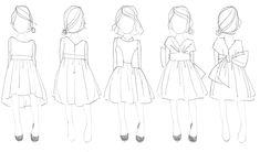 child fashion sketch - Buscar con Google