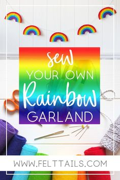 How to make a Felt Rainbow Playroom Decor, Nursery Decor, Bedroom Decor, Wall Decor, Rainbow Nursery, Rainbow Baby, Rainbow Decorations, Crafts For Kids, Toddler Crafts
