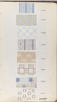 Textile Sample Book    Date:      1870s  Culture:      English or American Met Museum