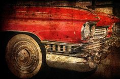 """Father's Day Gift Idea: 8x10"""" Vintage Cadillac Big Red  Classic Car Photography by AnnaDelores"""