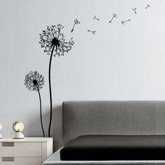 "Wandtattoo Wandaufkleber Sticker ""Pusteblume"" - braun: Amazon.de: Küche & Haushalt"