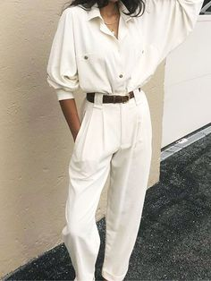 de40952e315 The Super-Minimal 2-Piece Formula That s All Over Pinterest. Trouser  OutfitsWhite Shirt OutfitsWhite Summer ...