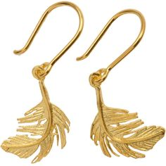 A.Monroe Feather Earrings ($200) ❤ liked on Polyvore