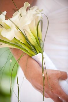 Bouquets photo by photosusan on Weddingbee. Prom Bouquet, Centerpieces, Tall Centerpiece, Calla Lily, Wedding Planning, Wedding Stuff, Wedding Ideas, Herbs, Bridal