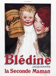 Blédine (Jacquemaire) 1930 d'après Jean d'Ylen Vintage advert Food illustrated by Jean d' Ylen   Hprints.com
