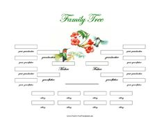 template of a family tree