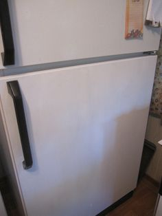 The Fridge Door After... No Rust. Thankyou Tremclad