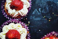 #cupcake #strawberries #sweet #red