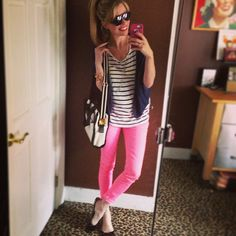 I am so into colored bottoms this year. For a change, reverse your style! Put neutrals on top, pops of color on the bottom for a fresh new look or to glam up any Plain Jane top! Dress Up Outfits, Casual Outfits, Express Fashion, Get Skinny, Tj Maxx, Get Dressed, Look, Fashion Beauty, My Style