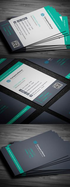 Clean Business Card Template #businesscards #psdtemplates #printready