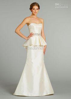 Cute Peplum wedding dress