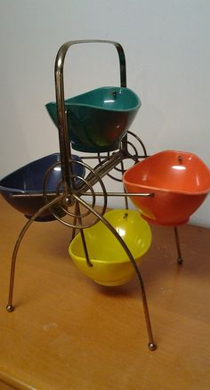 Vintage 1956 Styson Art Plastic Snack Carousel by LipstickLounge, $65.00