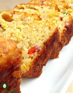 Cheesy Bacon, Sweet Corn and Pepper Bread Easy recipe and yep, VERY DELICIOUS! Serve warm or cold, tasty either way! Goes great with soups too.