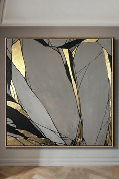 Abstract Painting Original Large Gold Leaf Painting Gray Painting Texture Art Abstract Acrylic Painting On Canvas Living Room Wall Art* Handmade oil acrylic painting * Express shipping days worldwide * Any size up to Acrylic Painting Canvas, Acrylic Art, Painting Art, Art Paintings, Painting Tools, Painting Flowers, Large Painting, Modern Paintings, Portrait Paintings