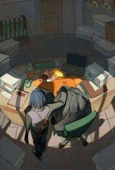 Imagem de sasunaru, anime, and naruto
