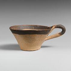 Terracotta miniature one-handled cup Period: Late Minoan IA Date: ca. 1600–1525 B.C. Culture: Minoan Medium: Terracotta
