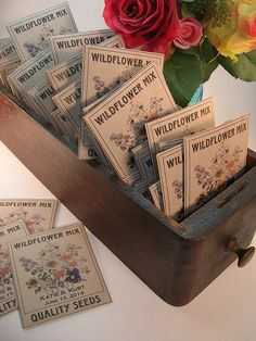 Seed Wedding Favors, Seed Packets, Wild Flowers, Seeds, Memories, Personalized Items, Memoirs, Souvenirs, Wildflowers